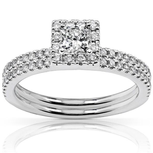 Annello by Kobelli Platinum 3/4ct TDW Diamond Bridal Ring Set (G-H, VS1-VS2)