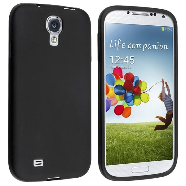 INSTEN Black Skin Phone Case Cover for Samsung Galaxy S IV/ S4 I9500