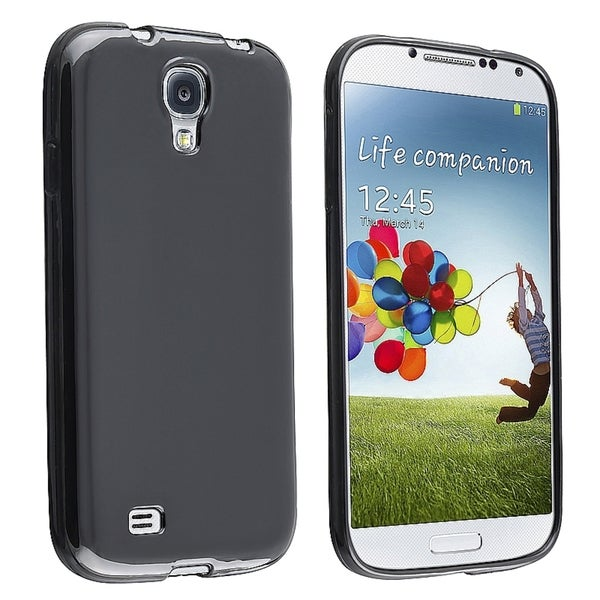 INSTEN Black Jelly TPU Phone Case Cover for Samsung Galaxy S IV/ S4 I9500
