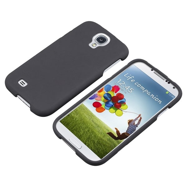 INSTEN Black Rubber Coated Phone Case Cover for Samsung Galaxy S IV/ S4 I9500