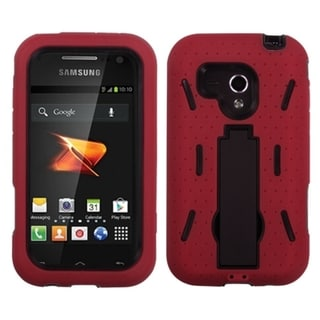INSTEN Red Hybrid Stand Phone Case Cover for Samsung M830 Galaxy Rush