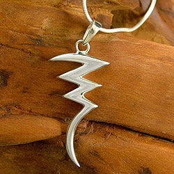 Sterling Silver 'Lightning' Necklace (India)