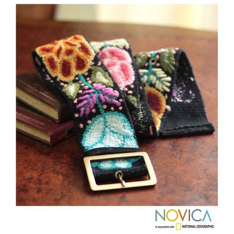 Handmade Wool 'Exotic Huantla' Belt (Peru)