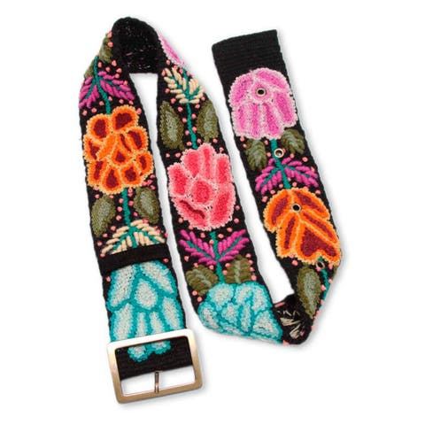 Handmade Wool 'Exotic Huantla' Belt (Peru) Size - XXL (41 - 44) Inches