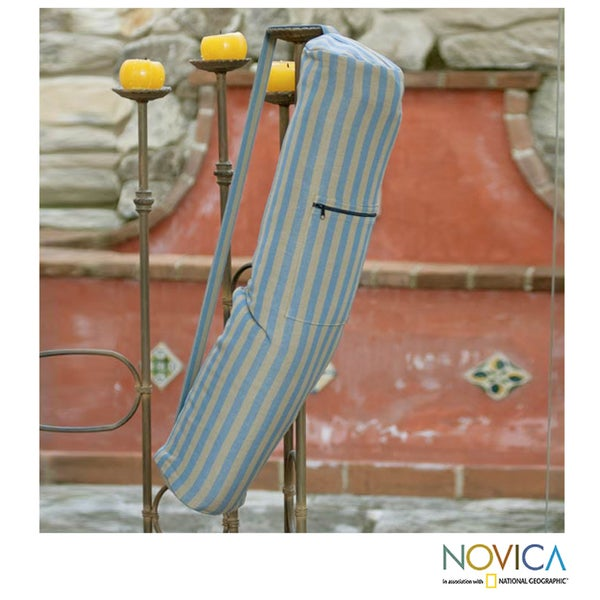 Handcrafted Cotton 'Tranquility' Yoga Pilates Mat Bag (Guatemala)