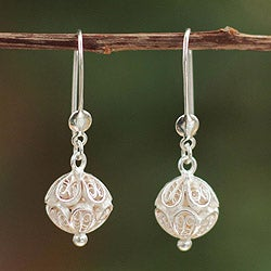 Handcrafted Sterling Silver 'Andean World' Earrings (Peru)