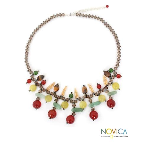 Handmade Lanna Splendor Multi-Stone Necklace (Thailand)