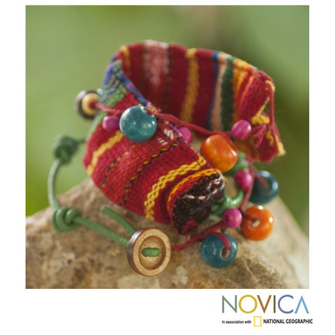 Handmade Cotton 'Joy and Prosperity' Bracelet (Guatemala)