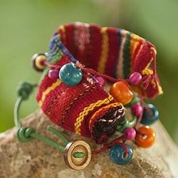 Handcrafted Cotton 'Joy and Prosperity' Bracelet (Guatemala)