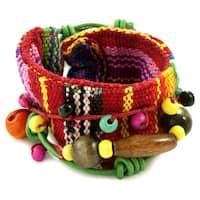 Handmade Cotton 'Joy and Prosperity' Bracelet (Guatemala)