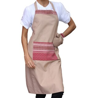 Handmade Cotton 'Kitchen Style' Apron and Oven Mitt (Thailand)