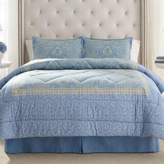 Laura Ashley Prescot Cotton 4-piece Comforter Set