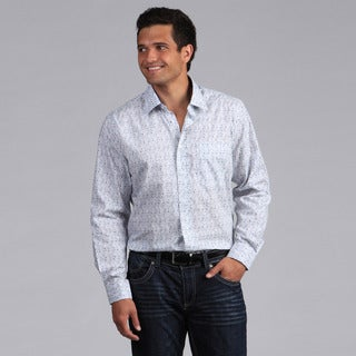 XMI Platinum Men's Printed Floral Button-front Shirt