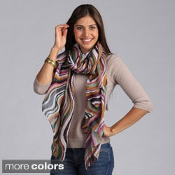 Saro Women's Swirling Stripe Design Scarf