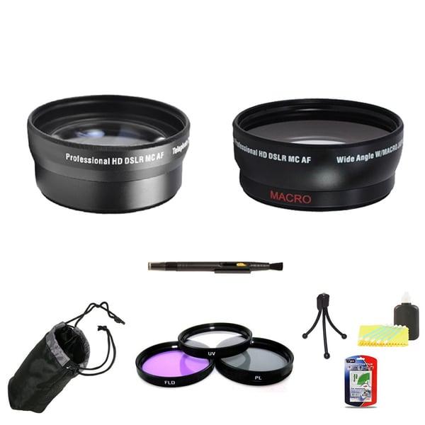 Professional Telephoto Lens & Wide Angle Lens 58mm Bundle