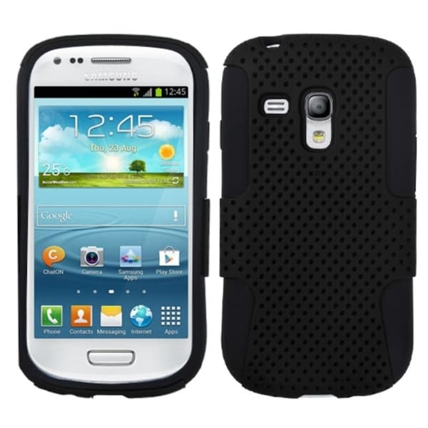 INSTEN Black Phone Case Cover for Samsung i8190 Galaxy S III Mini