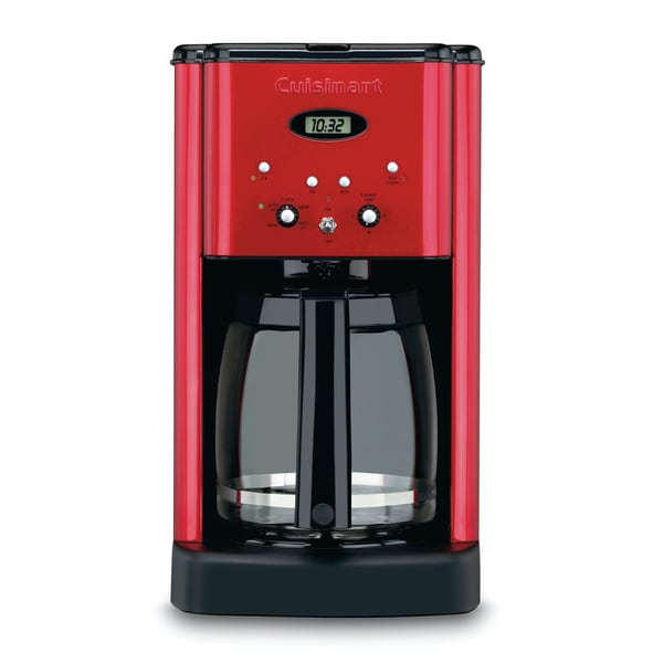 Cuisinart DCC-1200MRFR Metallic Red Brew Central Programmable Coffeemaker Refurbished)