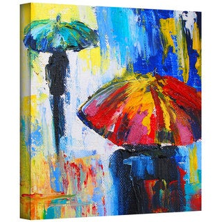 Susi Franco 'Red Umbrella' Gallery-Wrapped Canvas