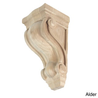 Hand-carved Unfinished Solid Hardwood Corbel (More options available)