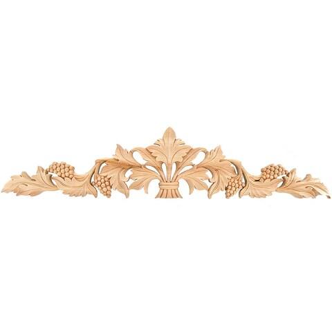 Hand-carved Solid Hardwood Grape Leaf Applique