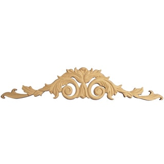 Hand-carved Solid Hardwood Acanthus Leaf Applique