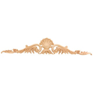 Hand-carved Solid Hardwood Shell Leaf Applique