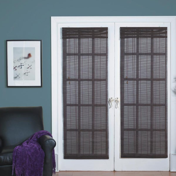 Matchstick Bamboo Cocoa French Door Blind
