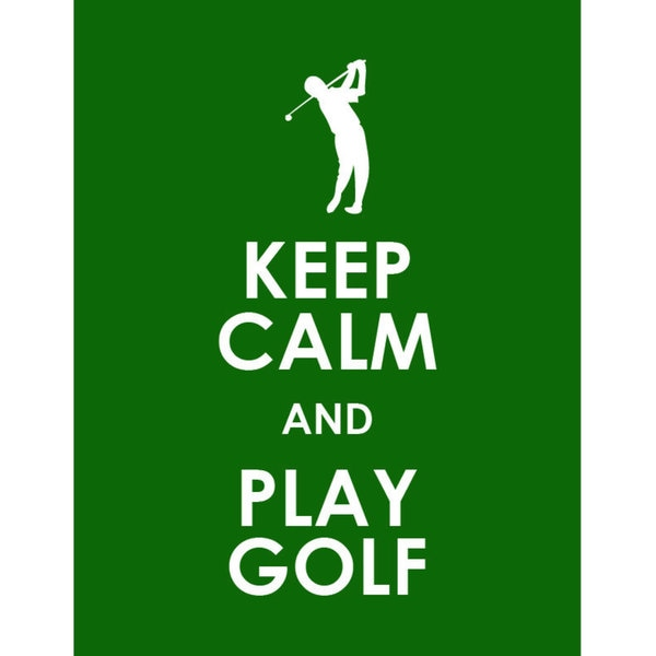 Keep Calm And Play Golf Print Art Free Shipping On