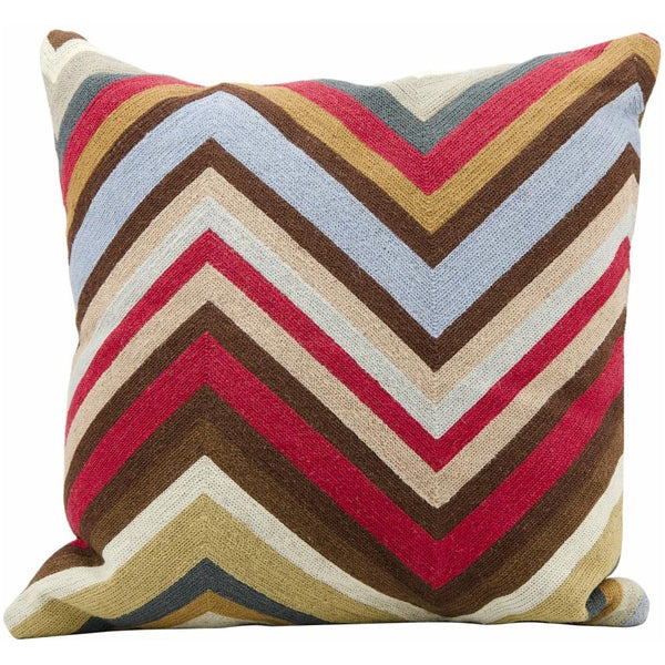Mina Victory Lifestyle Chevron Multicolor Throw Pillow (18-inch x 18-inch) by Nourison