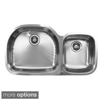 Ukinox D537.60.40.8L 60/40 Double Basin Stainless Steel Undermount Kitchen Sink