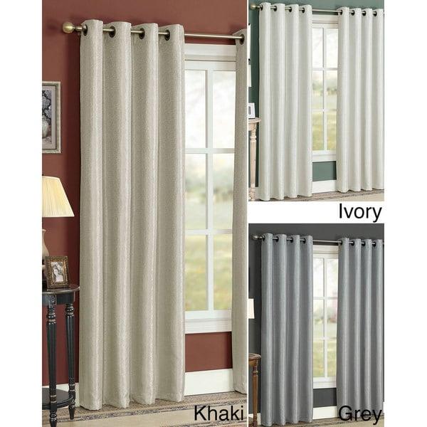 Shop Natural Grommet 84-inch Curtain Panel Pair