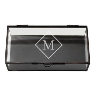Personalized Rectangle Glass Jewelry Box