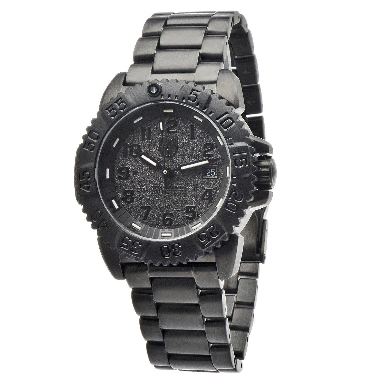 Luminox Men's 'Steel Colormark' Blackout Steel Watch (Bla...