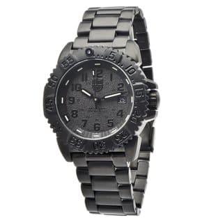 Luminox Men's 'Steel Colormark' Blackout Steel Watch (Option: Black)|https://ak1.ostkcdn.com/images/products/7957762/7957762/Luminox-Mens-Steel-Colormark-Blackout-Steel-Watch-P15329868.jpg?impolicy=medium