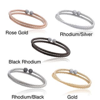 Riccova Metal Cubic Zirconia Ball End Cable Wrap Bracelet https://ak1.ostkcdn.com/images/products/7957767/P15329918.jpg?impolicy=medium