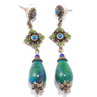 Sweet Romance Southwest Blue Green Chrysoloca Earrings