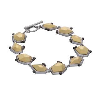 NEXTE Jewelry Two-tone Architecturally-inspired Bracelet