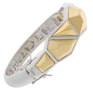 NEXTE Jewelry Two-tone Architecturally-inspired Urban Bangle Bracelet