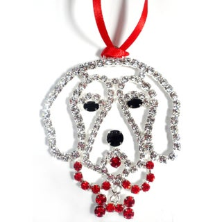 Buddy G's Austrian Crystal Golden Retriever Ornament