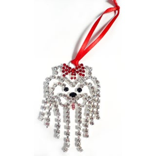 Buddy G's Austrian Crystal Yorkshire Terrier Ornament