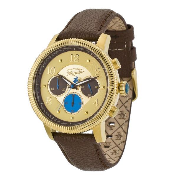 Original Penguin Men's 'Dino' Gold Dial Chronograph Watch