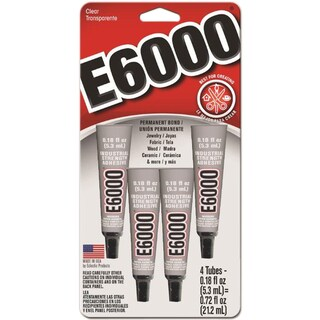 E-6000 Multi-Purpose Adhesive .18ounces 4/Pkg