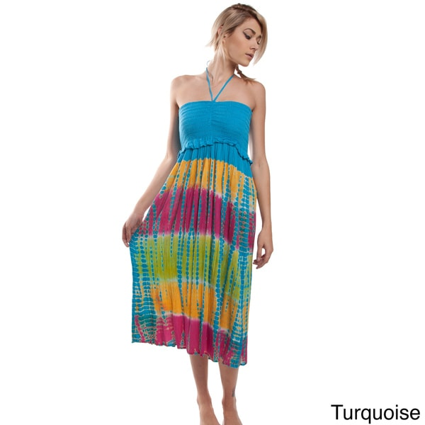 Handmade Summer Love Tie Dye Sundress (India)