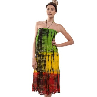 Handmade Color Of Rasta Beach Dress (India)