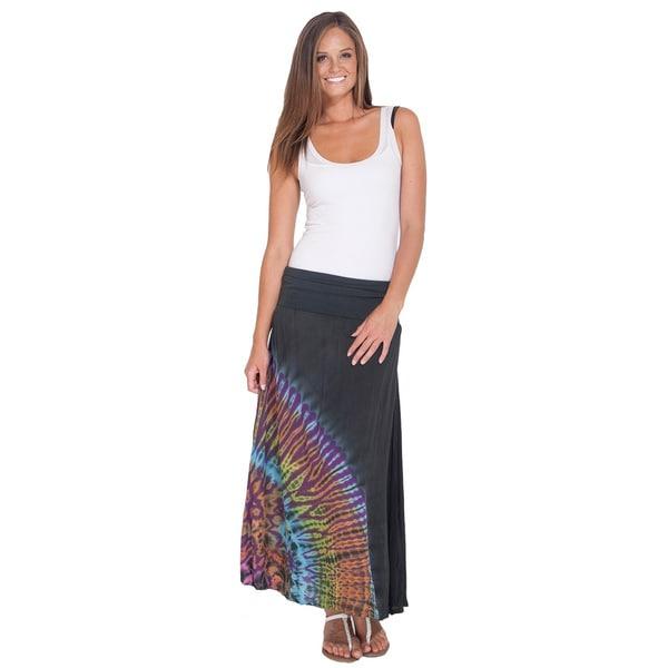 Handmade Mudmee Tie Dye Long Gypsy Skirt (Nepal)