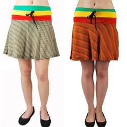 Handmade Mini Frill Rasta Skirt (Nepal)