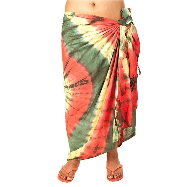 Rasta Tie Dye Sarong (India)