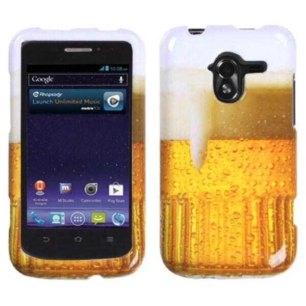 INSTEN Beer/ Black Tuff Hybrid Phone Case Cover for ZTE N9120 Avid 4G