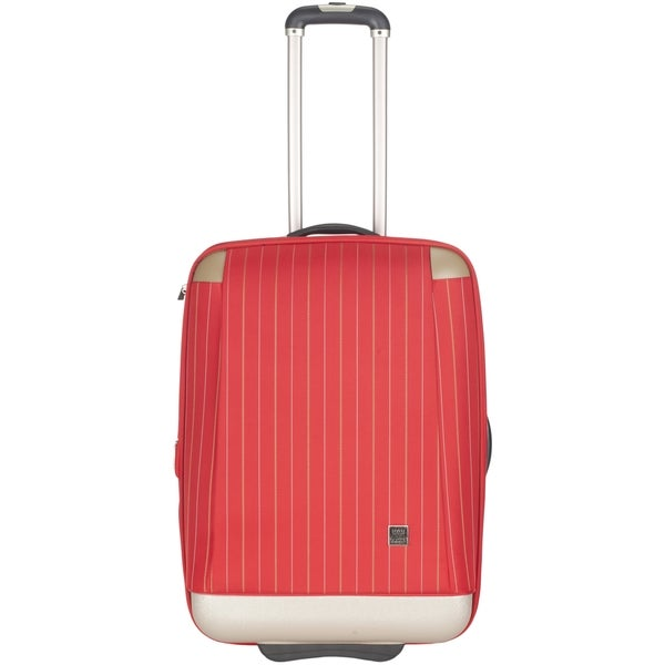 Lotus Oneonta 20-inch Red Carry On Upright Suitcase - 0. Opens flyout.