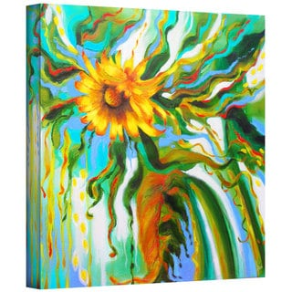 Susi Franco 'Sunflower Melting' Gallery-Wrapped Canvas